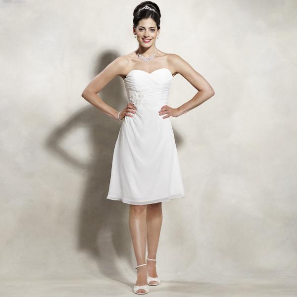 Robe de mariée courte bustier coeur Emma