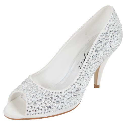 Chaussures mariée bout ouvert et paillettes