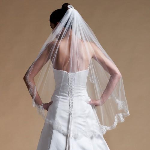 Voile de mariée en dentelle Bea