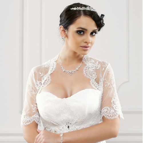 Boléro de mariée dentelle Annalisa