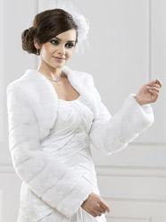 Boléro de mariage hiver Sophia