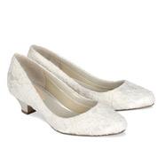 Chaussures de mariage petit talon Bon Bon