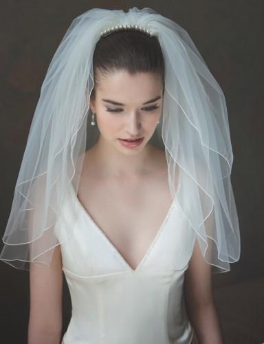 fixer voile mariée court