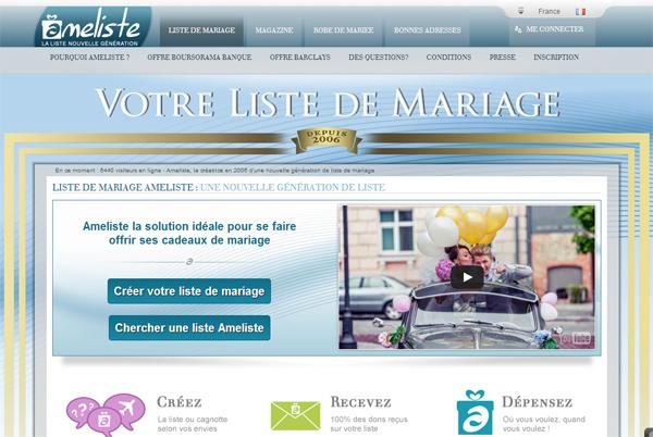 liste mariage - Liste De Mariage Ameliste