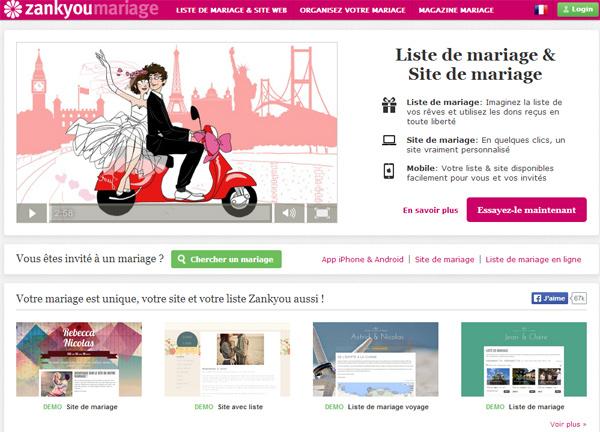 liste mariage zank you - Liste Mariage Zankyou