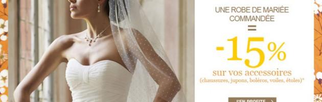 promo robe accessoire mariage