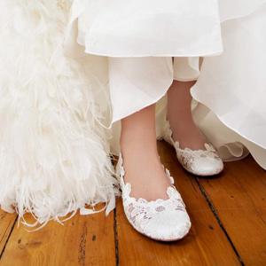 Ballerines mariage dentelle