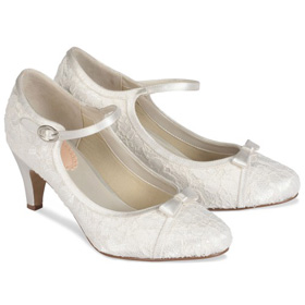Chaussures mariage dentelle