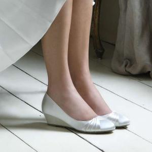 Chaussures mariage talon compensé Gleam