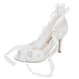 Chaussures de mariée en dentelle Violet