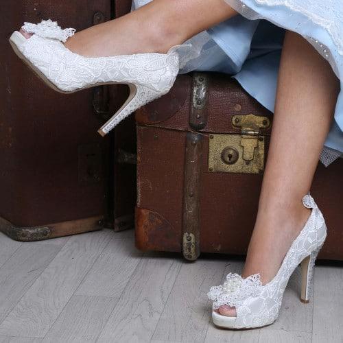 chaussures mariée vintage Flo