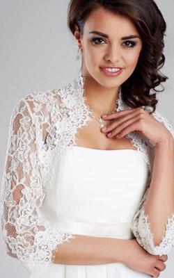 Gilet robe de mariee hiver