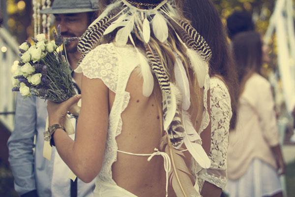 accessoires plume mariage