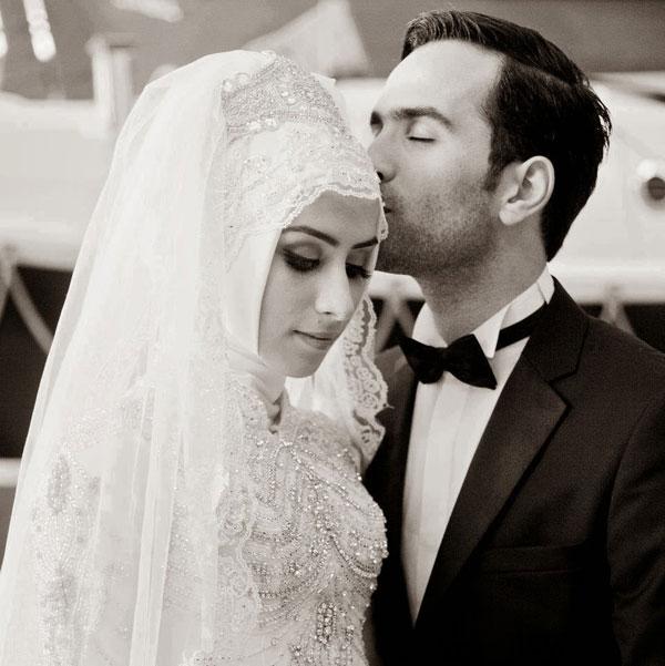 Robe blanche mariage musulman