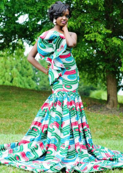 Belle robe de soiree en pagne