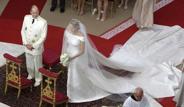 robe mariage Charlène Wittstock
