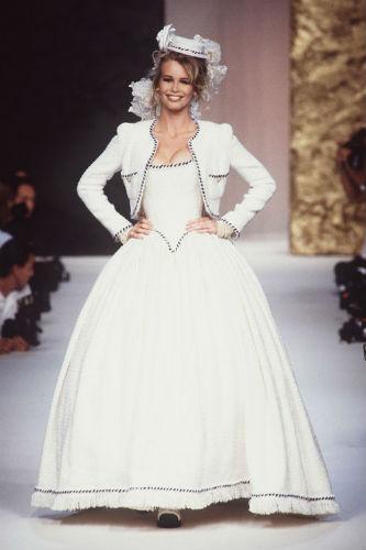 robe mariage Claudia Schiffer