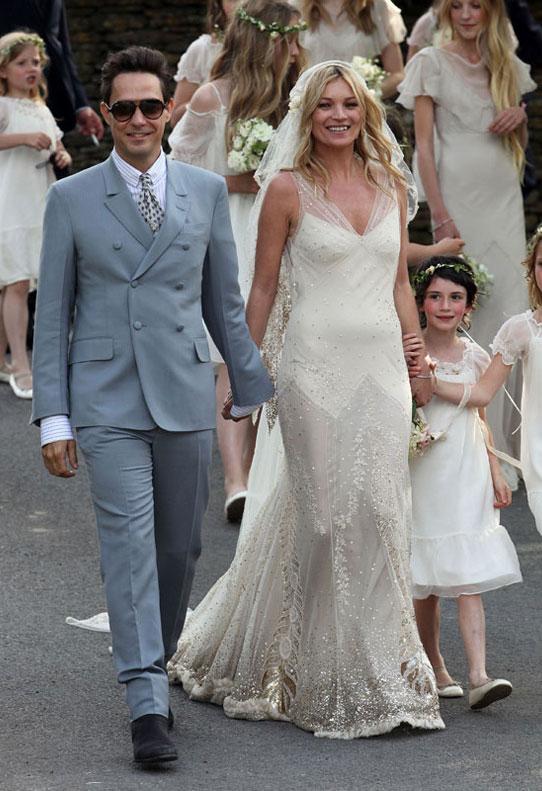 robe mariée Kate Moss