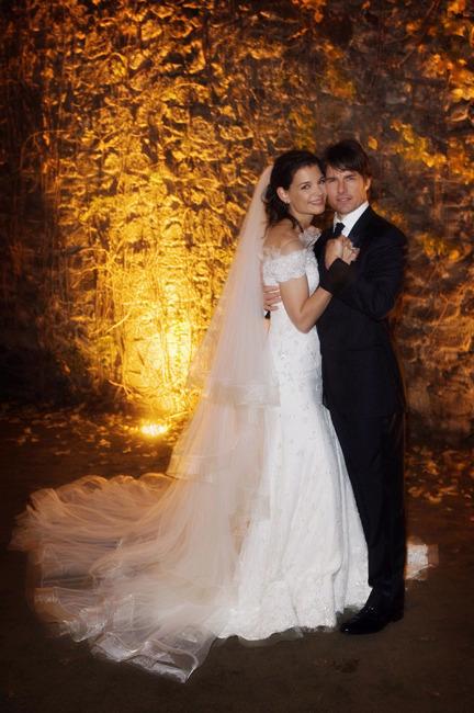 robe mariage Katie Holmes