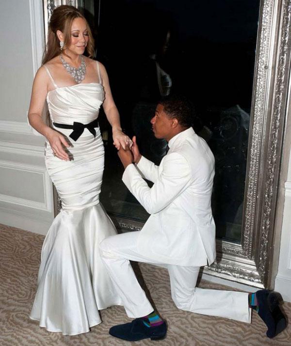 robe mariage Mariah Carey