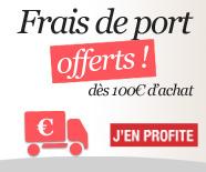 Frais de ports offerts à partir de 100€ d'achat !