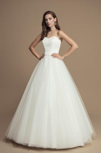 Robe de mariée princesse simple satin et
