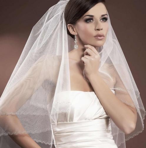 voile mari e tulle italien ivoire ou blanc avec perles de verre bogdana. Black Bedroom Furniture Sets. Home Design Ideas