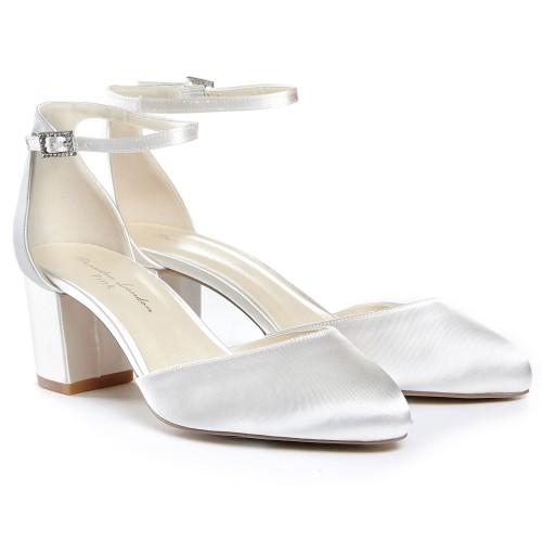 498a3909b75f25 Chaussures de mariée à petits talons stables Coco