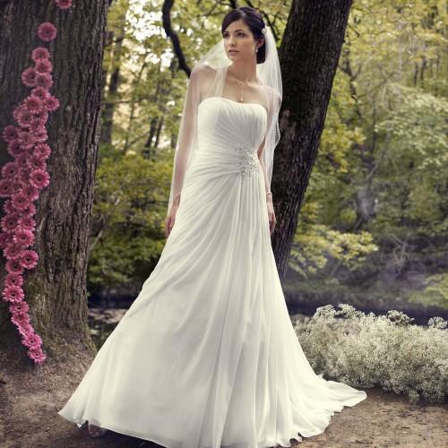 b5ae39c86bd Robe de mariage pas cher ivoire en organza - Instant Précieux
