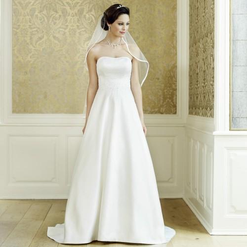 e430ddf13dc82 Robe de mariage ivoire princesse bustier Jeanne