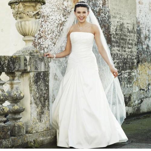 7eb412950b063 Robe de mariée pas cher en taffetas ivoire Lina