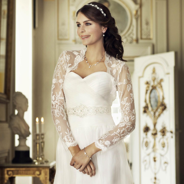 Gilet dentelle pour robe de mariee