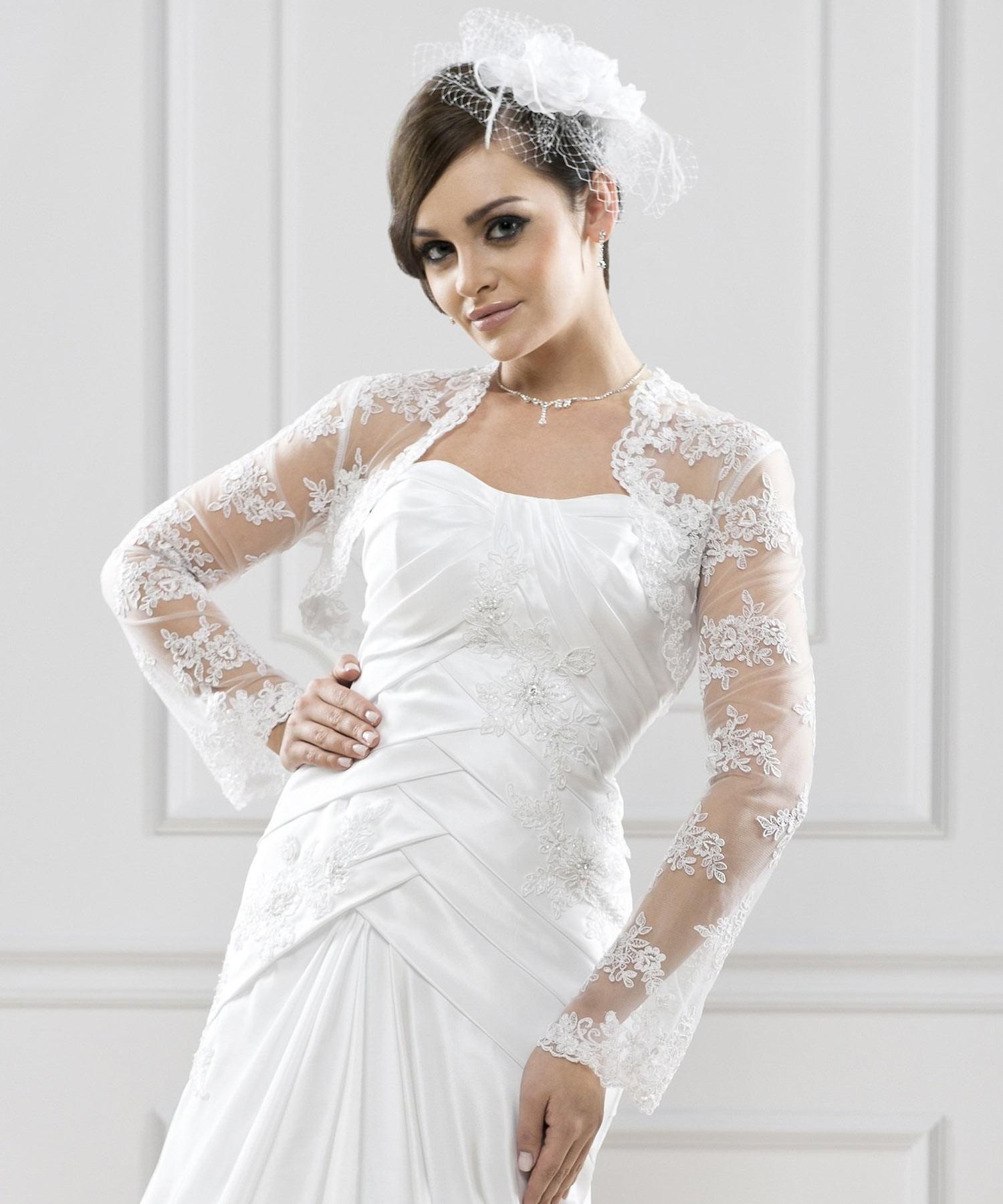 bolro mariage dentelle teresa blanc - Bolero Mariage Blanc