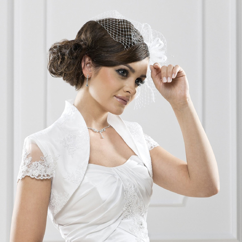 bolro mariage dentelle valentine blanc - Bolero Mariage Blanc