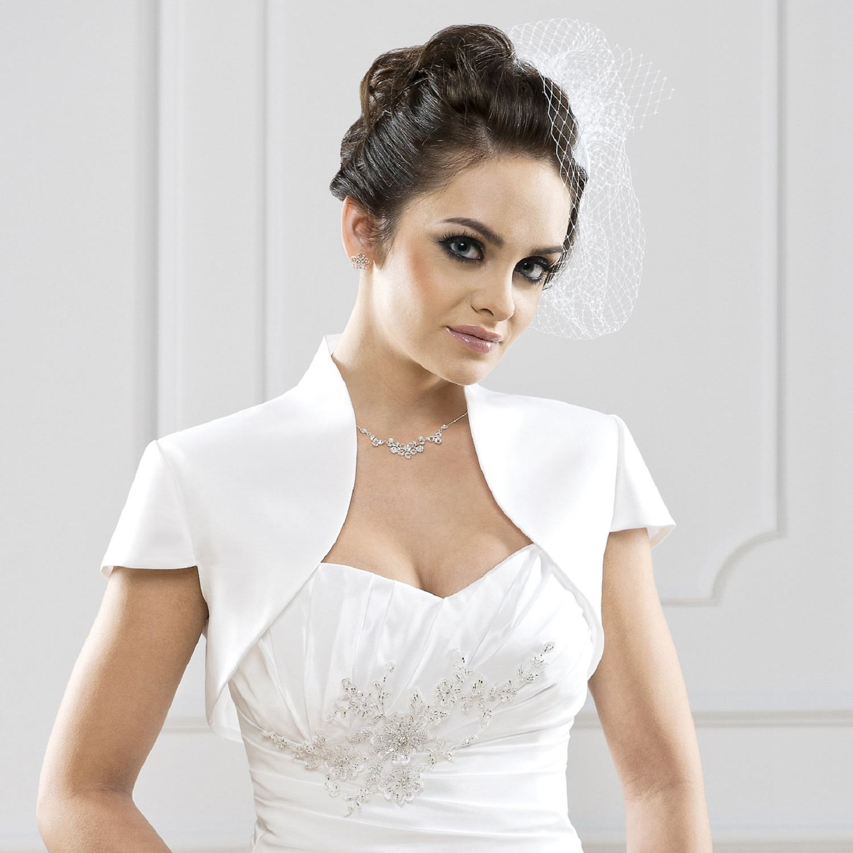 bolro mariage satin clmentina blanc - Bolero Mariage Blanc