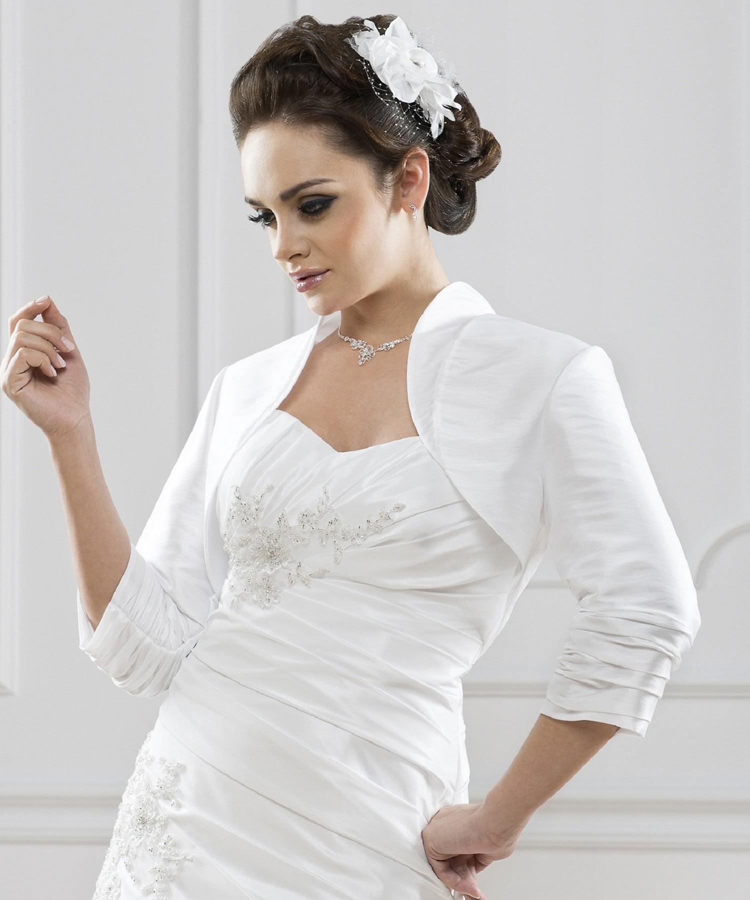 bolro mariage taffetas melissa blanc - Bolero Mariage Blanc