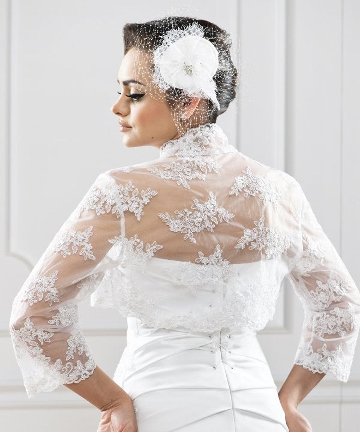 bolro marie dentelle vanou blanc - Bolero Mariage Blanc