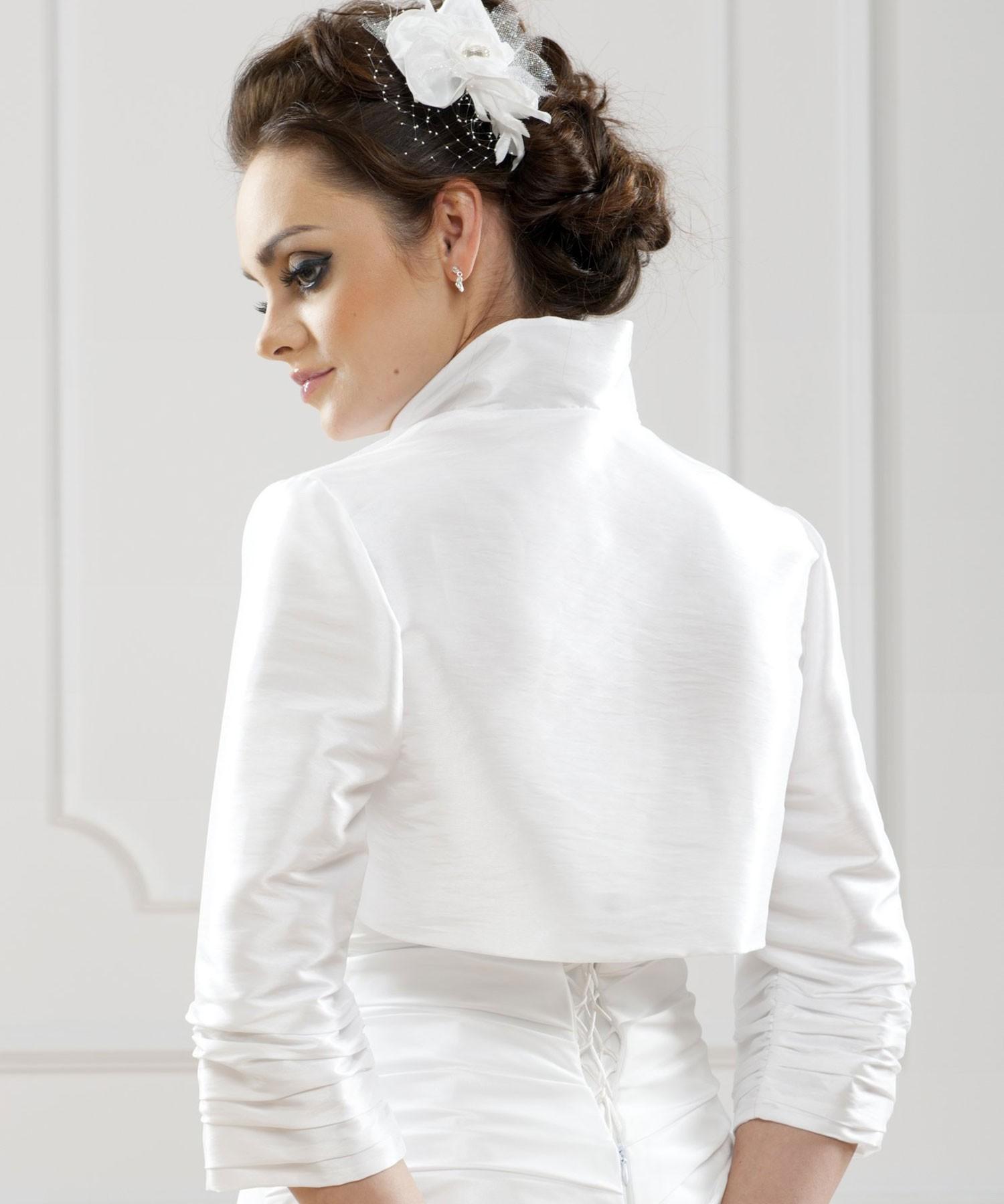 bolro mariage taffetas melissa blanc bolro marie taffetas melissa blanc - Bolero Mariage Blanc