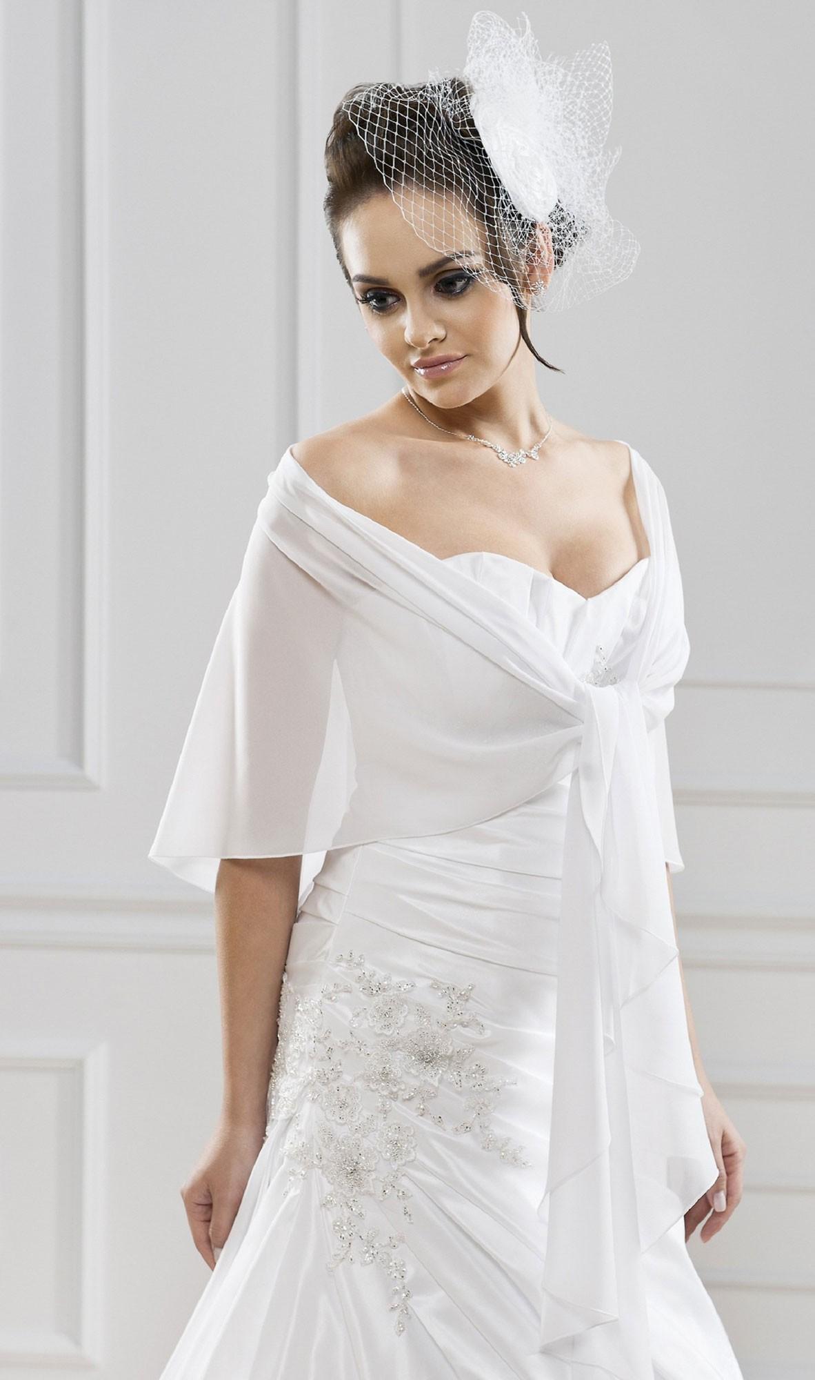 Chale blanc mariage - Etole mariage hiver ...