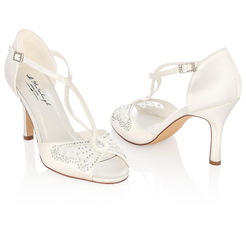 en ligne rechercher le dernier code promo Chaussure de mariage à bride croisée et papillon Adriana
