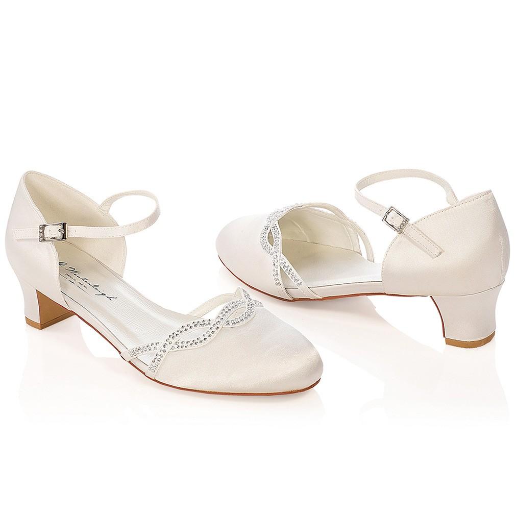 chaussure mariage ivoire en satin bout rond talon 4 cm annie westerleigh. Black Bedroom Furniture Sets. Home Design Ideas