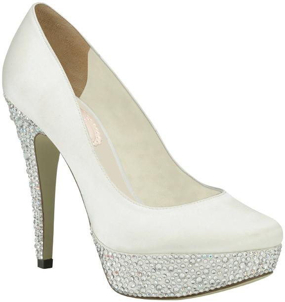 chaussures marie bedazzle - Chaussure Compense Mariage