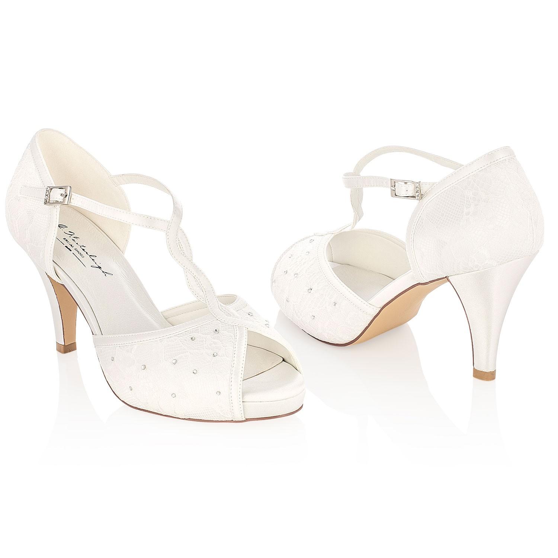 4e924556d3ecb3 Chaussures mariage dentelle ivoire Betty