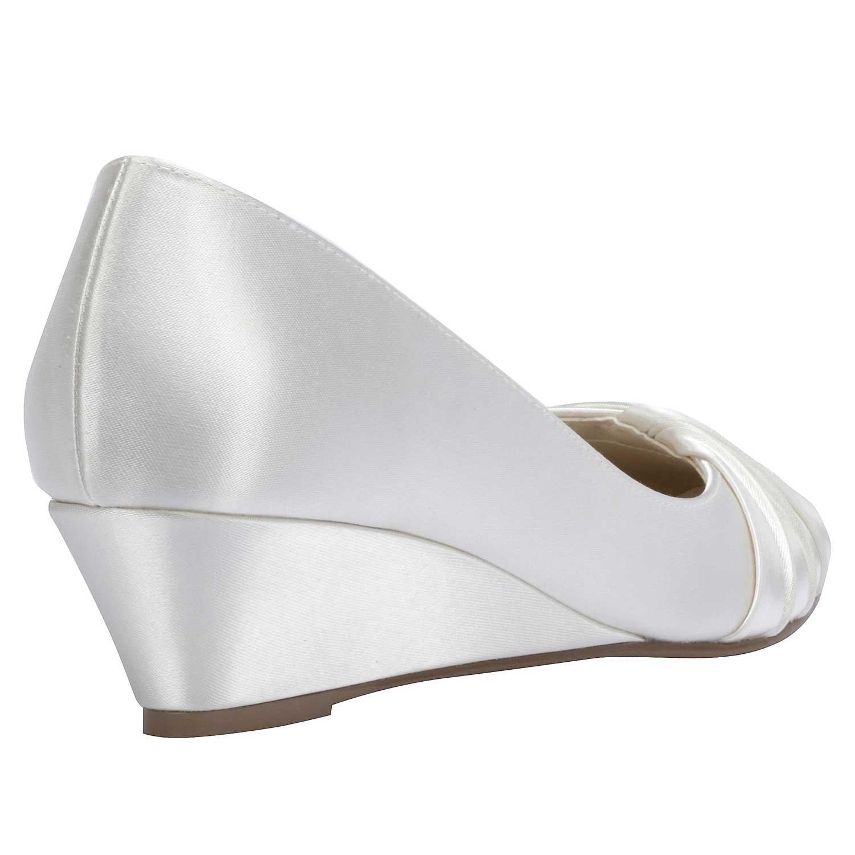 chaussures mariage talon compens gleam - Chaussure Compense Mariage