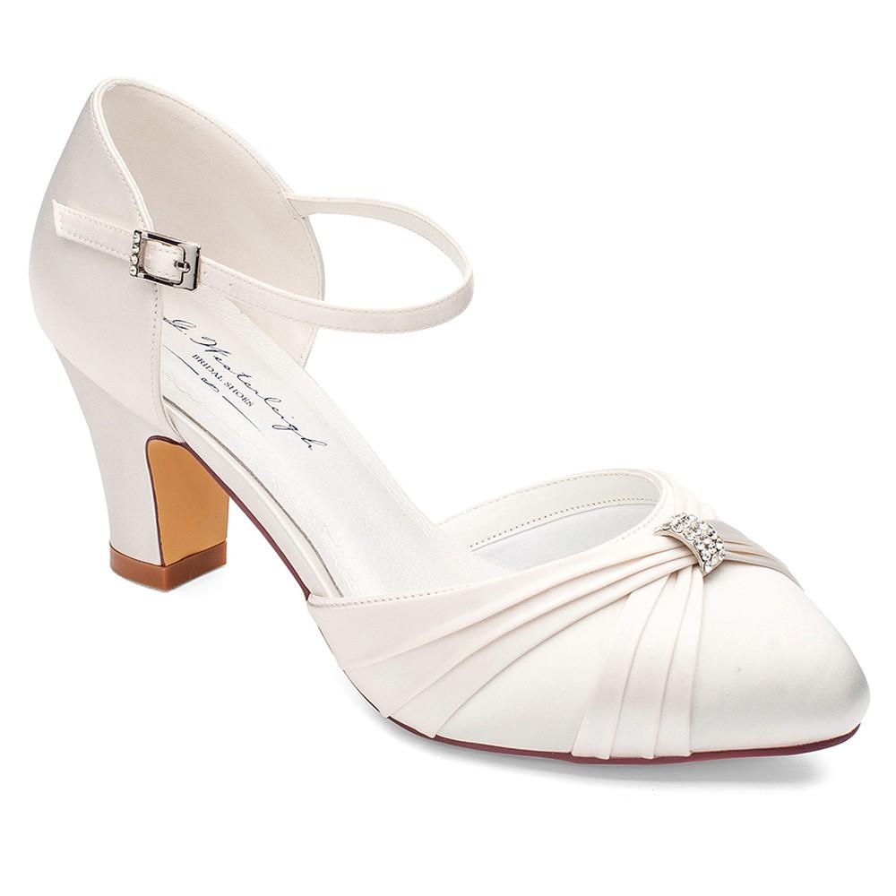 Chaussure mariage talon carré Luciana Westerleigh