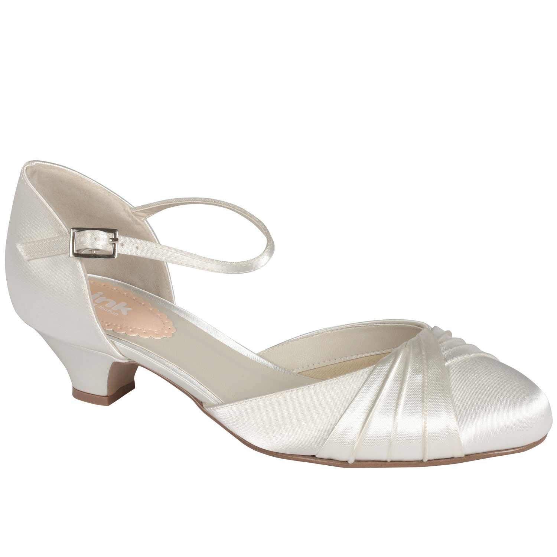Chaussure de mariage à petit talon pour pieds larges Favour