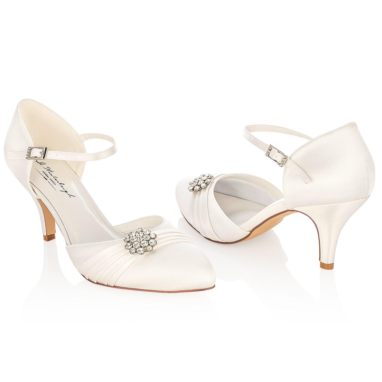 chaussure mariage talon moyen avec applique cristal abigail. Black Bedroom Furniture Sets. Home Design Ideas