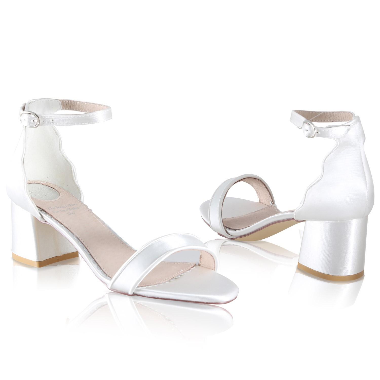 Royaume-Uni disponibilité e7b17 1373c Sandales de mariée en satin ivoire Taylor Perfect