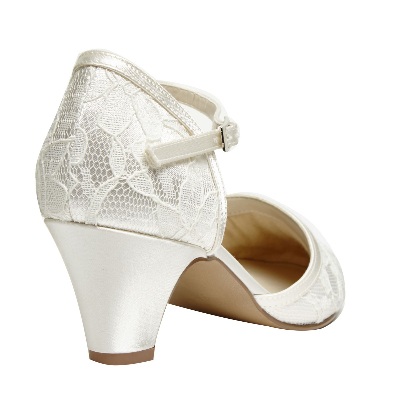 chaussures mariage dentelle petit talon et bride cheville adore. Black Bedroom Furniture Sets. Home Design Ideas