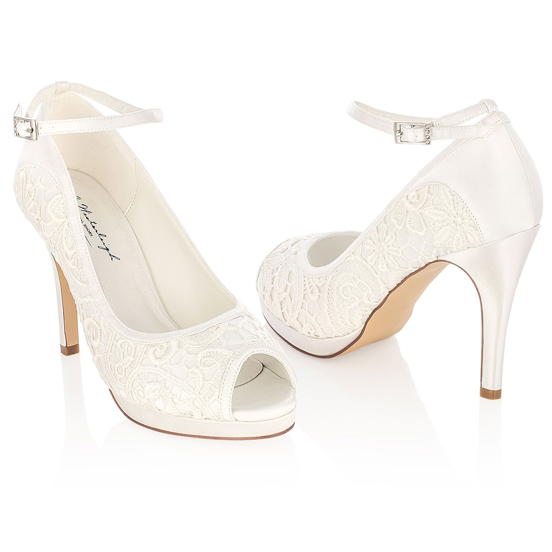 Chaussures mariée dentelle ivoire Carolina · Chaussures mariage